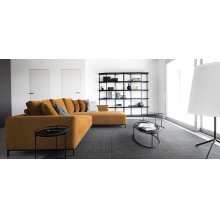 Modular Fabric Sofa with Metal Base
