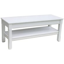 Cttg Plank Twin Bench - Wht