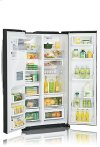 Cabinet-Depth Side-By-Side Refrigerator with Ice and Water Dispenser (21 cu.ft. Stainless Steel)