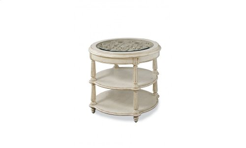 Provenance Round Lamp Table - Linen