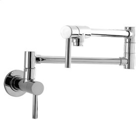 Polished Nickel - Natural Pot Filler - Wall Mount