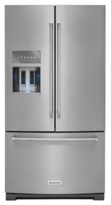 KRFF707ESS   26.8 cu. ft. 36-Inch Width Standard Depth French Door Refrigerator with Exterior Ice and Water Platinum Interior - Stainless Steel