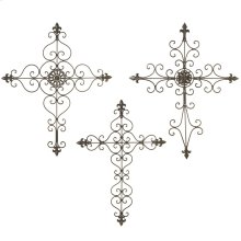 Black Scroll Wall Cross (3 asstd).