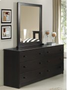 Espresso Double Dresser With Mirror Product Image