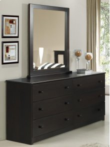 Espresso Double Dresser With Mirror