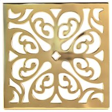 """Forever Brass - PVD 6"""" Square Shower Drain"""