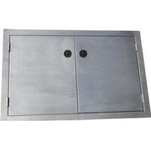 Built-in Stainless Double Doors