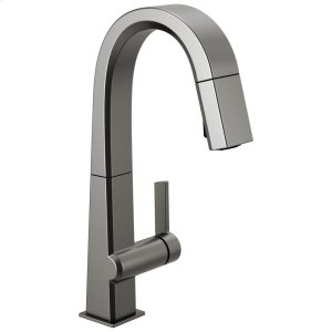 Black Stainless Single Handle Pull Down Bar/Prep Faucet Product Image