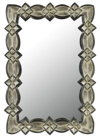 LACONI RECTANGULAR PU FRAME MIRROR Product Image