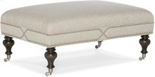 Bradington Young Callie Cocktail Ottoman Gold Or Pewter Caster 366-OT
