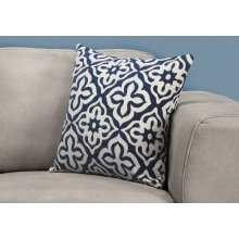 "PILLOW - 18""X 18"" / DARK BLUE MOTIF DESIGN / 1PC"