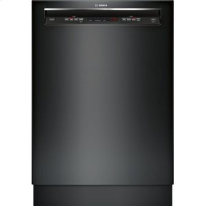 "Bosch24"" Recessed Handle Dishwasher 300 Series- Black SHE53TF6UC"