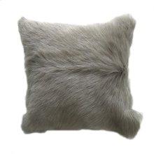 Goat Fur Pillow Light Grey