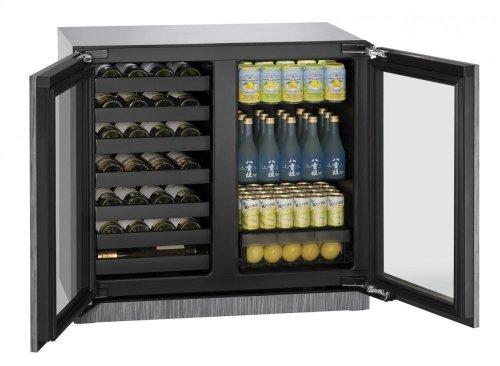 "36"" Beverage Center Integrated Frame Double Doors"