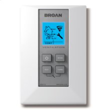 Electronic wall control included with HRV 5.1 orand HRV 7.1 HEPA air exchangers