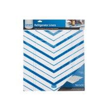 Trim-to-Fit Refrigerator Liner, Blue Chevron 2 Pack