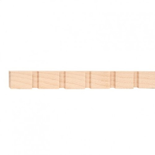 """9/16"""" x 3/8"""" Dentil with 1/4"""" gap and 3/4"""" teeth Species: Red Oak. Priced by the linear foot and sold in 8' sticks in cartons of 120'."""