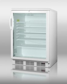 Commercial Glass Door Beverage Center for Red Wine and Ale, With Digital Thermostat, White Cabinet, and Lock; for Freestanding Commercial Use