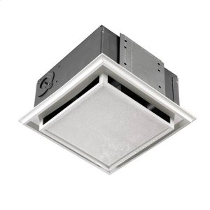 682NT Duct-free Fan; Ventilation Fan with White Grille Product Image