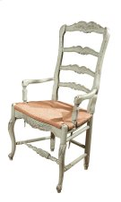 New Country French Arm Chair with Rush Seat Product Image