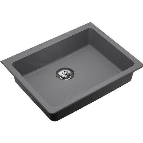 "Elkay Quartz Classic 25"" x 18-1/2"" x 5-1/2"", Undermount ADA Sink with Perfect Drain, Greystone"