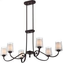 Adonis Island Chandelier in Dark Cherry