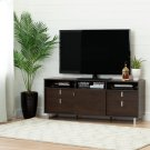 "TV Stand with Storage - Fits TVs Up To 60"" - Brown Oak Product Image"