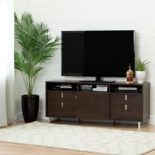 "TV Stand with Storage - Fits TVs Up To 60"" - Brown Oak"