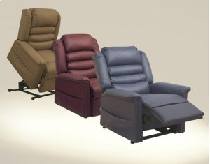 Pow'r Lift Full Lay-Out Chaise Recliner - Deep Sapphire