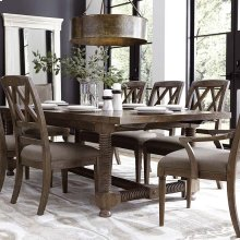 """Compass 104"""" Trestle Dining Table"""