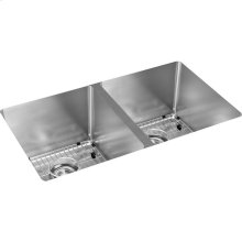 "Elkay Crosstown 16 Gauge Stainless Steel, 30-3/4"" x 18-1/2"" x 10"" Equal Double Bowl Undermount Sink Kit"