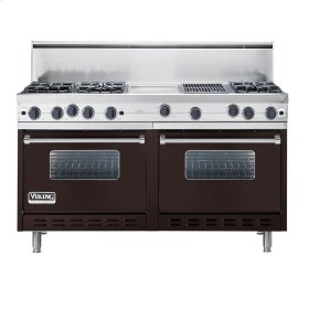 "Chocolate 60"" Open Burner Commercial Depth Range - VGRC (60"" wide, six burners 12"" wide griddle/simmer plate 12"" wide char-grill)"