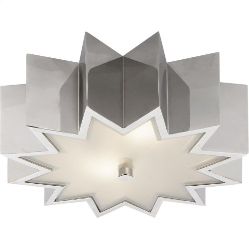 Visual Comfort AH4020PN-FG Alexa Hampton Odette 2 Light 15 inch Polished Nickel Flush Mount Ceiling Light
