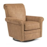 Plaza Fabric Swivel Glider with Nailhead Trim Product Image