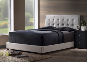 Lusso Twin Bed Set - White