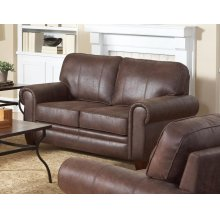 Allingham Traditional Brown Loveseat