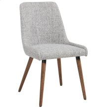 Mia Side Chair, set of 2, in Light Grey & Grey Legs