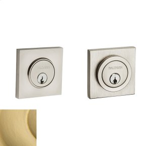 Satin Brass Contemporary Square Deadbolt