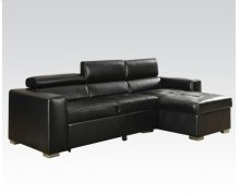 Aidan Black Blm Sectional Sofa