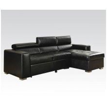 Aidan Black Blm Sectional Sofa