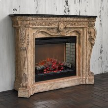 Floral Electric Fireplace