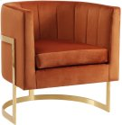 "Carter Velvet Accent Chair - 29"" W x 27.5"" D x 31"" H Product Image"