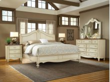 CHATEAU soft white finish with mahogany tops