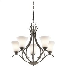 Keiran Collection 5 Light Chandelier  Olde Bronze