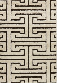 Ivory / Dark Brown Rug