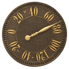 "Geneva 16"" Indoor Outdoor Wall Thermometer - Aged Bronze"