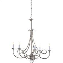 Visual Comfort SC5015PN Eric Cohler Twist 5 Light 26 inch Polished Nickel Chandelier Ceiling Light