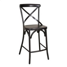 X Back Counter Chair - Black