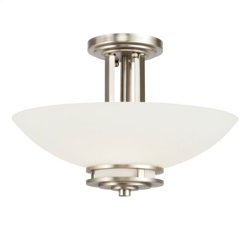 Hendrik 2 Light Semi Flush Brushed Nickel