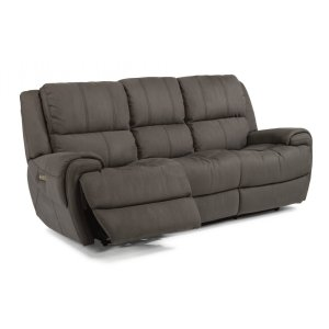 FLEXSTEELNance Fabric Power Reclining Sofa with Power Headrests